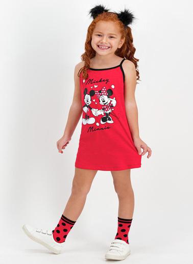 Mickey Mouse Gecelik Kırmızı